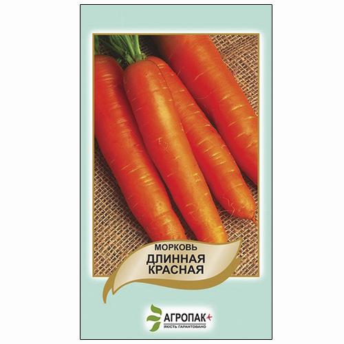 Среднепоздняя морковь сорта Длинная красная.