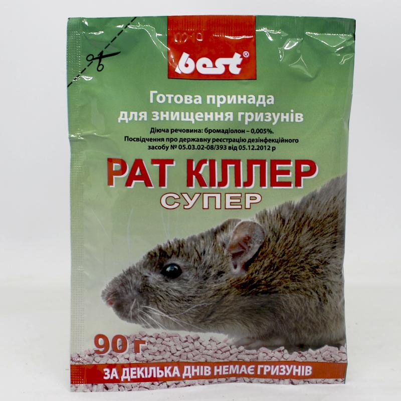 Родентицидное средство Рат Киллер Супер предназначено для использования специалистами дезинфекционной службы и в быту с целью уничтожения крыс и мышей.