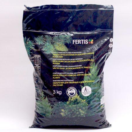 Комплексное удобрение для хвойных и декоративных деревьев Fertis, 3 кг.