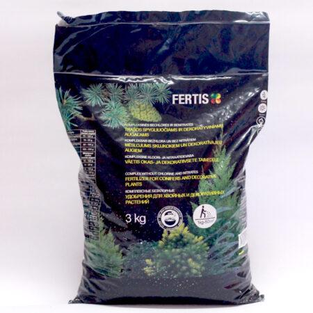 Комплексне добриво для хвойних та декоративних дерев Фертіс, 3 кг.