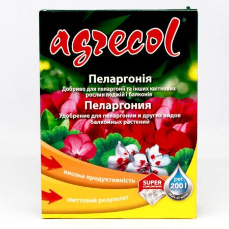 Удобрение Agrecol для пеларгоний