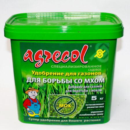 Удобрение Agrecol для газонов для борьбы со мхом