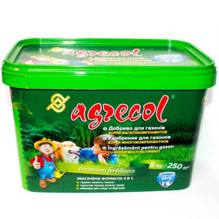 Супер багатокомпонентне добриво Agrecol для газонів