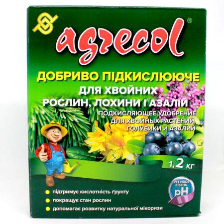 Подкисляющее удобрение Agrecol для хвойных растений, голубики, азалий