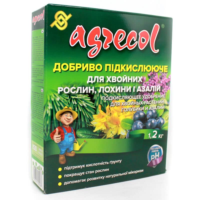 Підкислююче добриво Agrecol для хвойних рослин, лохини, азалій