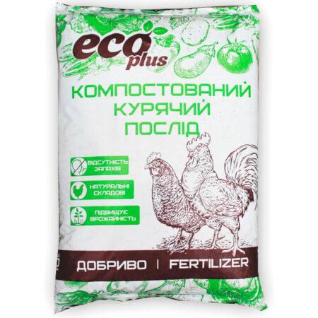 Компостированный куриный помет Eco Plus