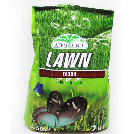 Комплексное удобрение LAWN для газона, 2 кг